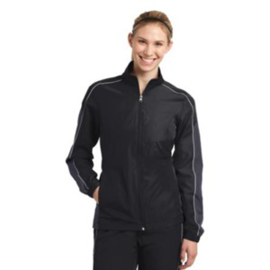 Sport-Tek Ladies Piped Colorblock Wind Jacket. LST61
