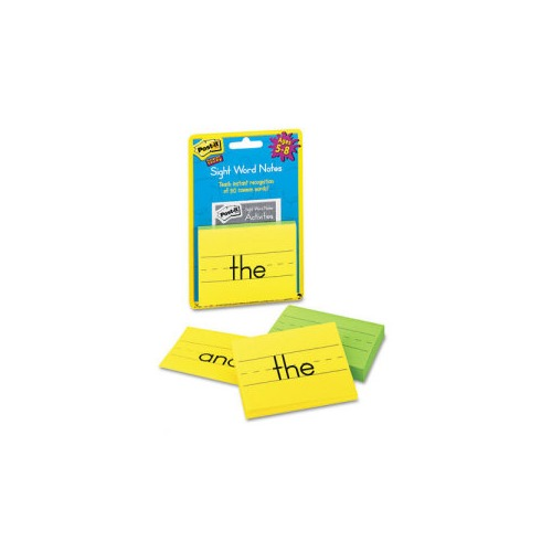 Post-it Super Sticky Sight Word Notes for Kids - MMM562SWN ...