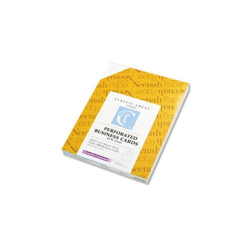 Neenah paper classic crest perforated business cards for Perforated business card paper
