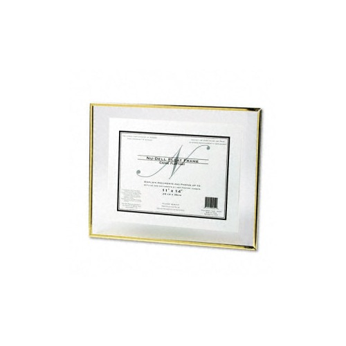 nu dell floating glass front award frame w certificate